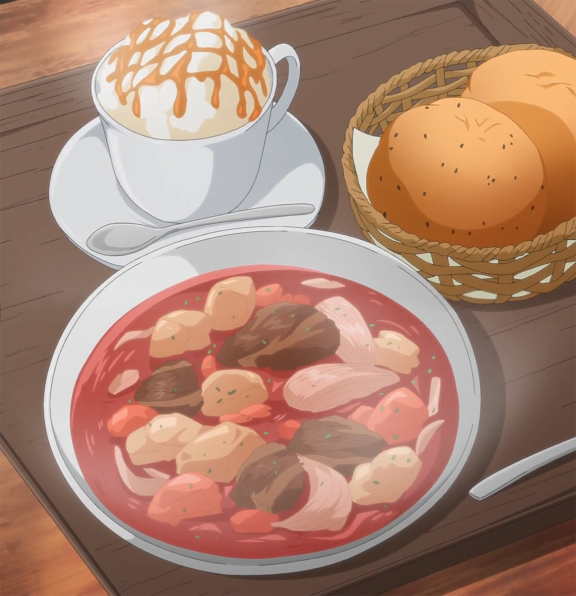 Featured image for Yuru Camp's Hearty Sweet-Meets-Sour Beet and Beef Borscht!