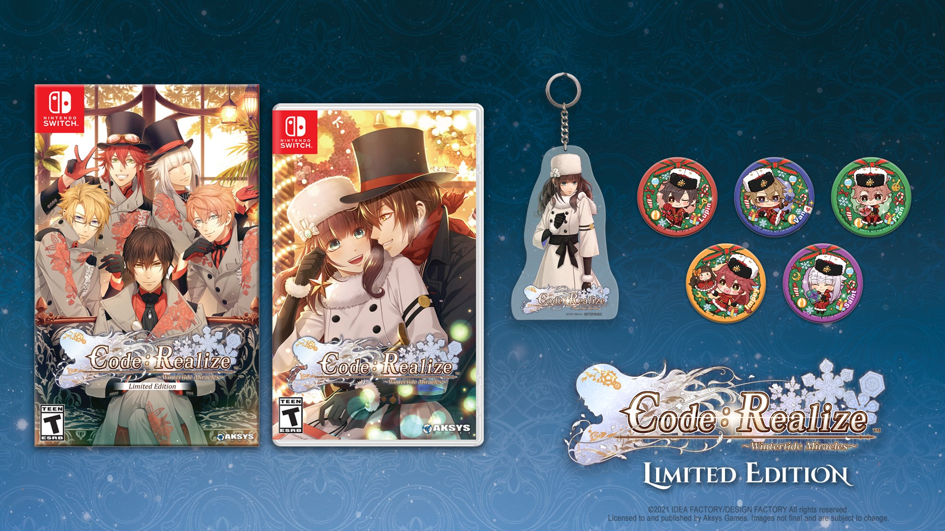 Featured image for Code: Realize ~Wintertide Miracles~ to Launch February 25th on Nintendo Switch