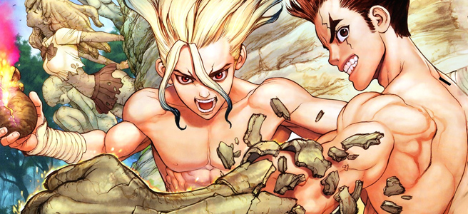 Featured image for Stone age science nerds! Lets talk about Dr. Stone