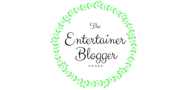 Featured image for The Entertainer Blogger Award
