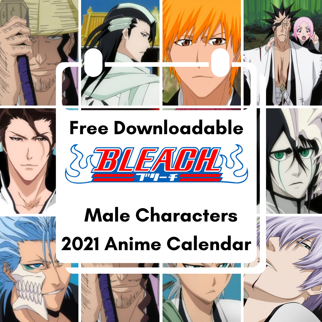 Featured image for Male Bleach Characters Free Downloadable Anime Calendar 2021