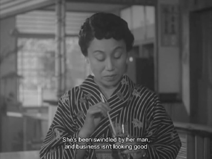 Background image for Naruse's FLOWING (1956): The Fall of a Geisha Household
