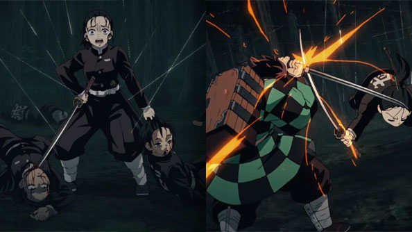 Background image for Demon Slayer: Kimetsu no Yaiba – 16 – The Webs that Bind