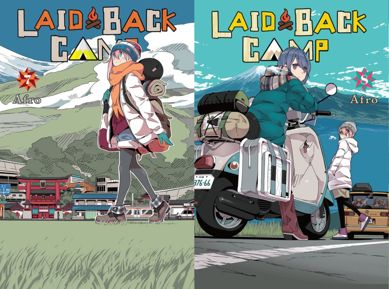 Featured image for Laid-Back Camp Volumes 7 and 8 Review