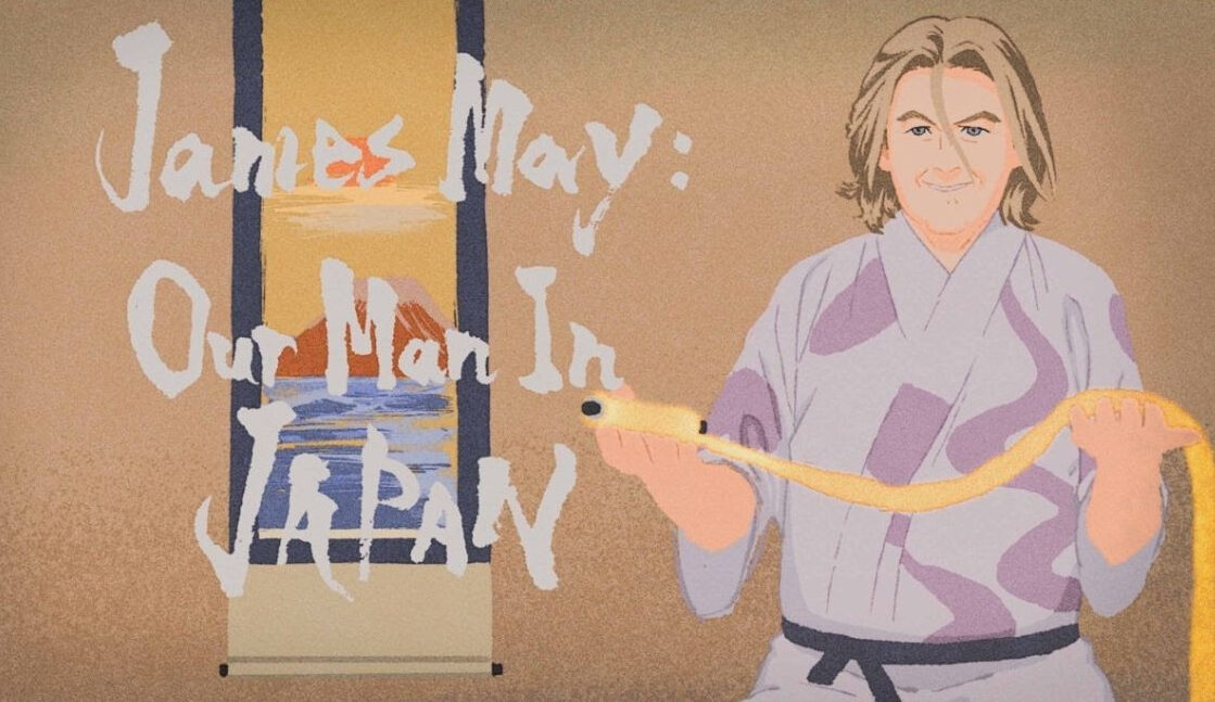 Featured image for James May: Our Man in Japan–cue the anime, please!