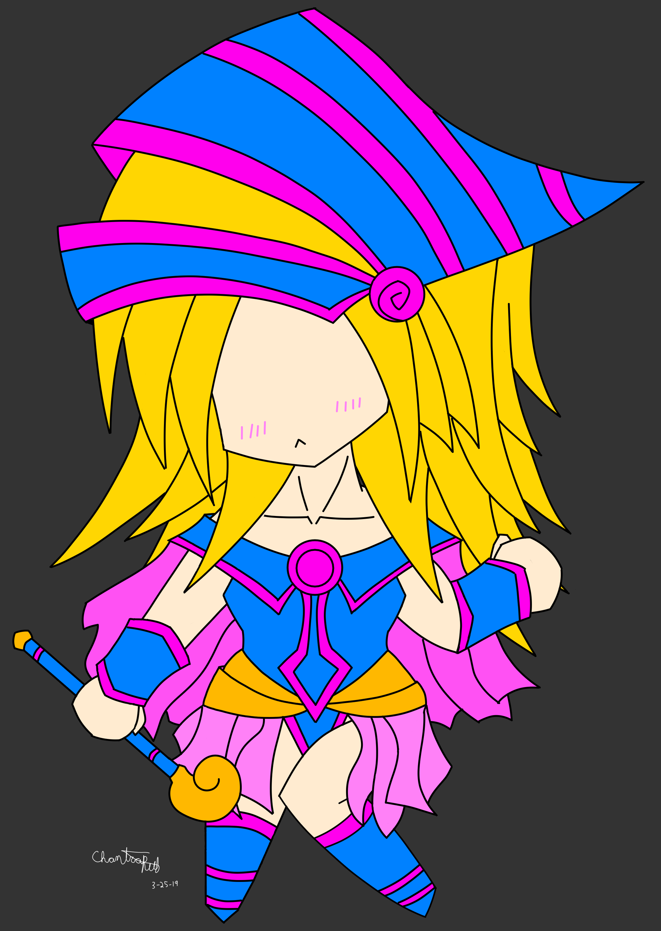 Featured image for DRAWING/Yu-Gi-Oh's Black Magician Girl