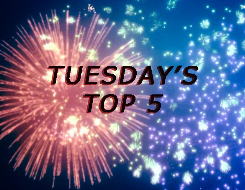 Featured image for Tuesday's Top 5: Top 5 Red-Heads (Female)