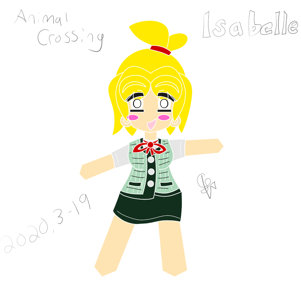 Featured image for DRAWING/Animal Crossing's Isabelle