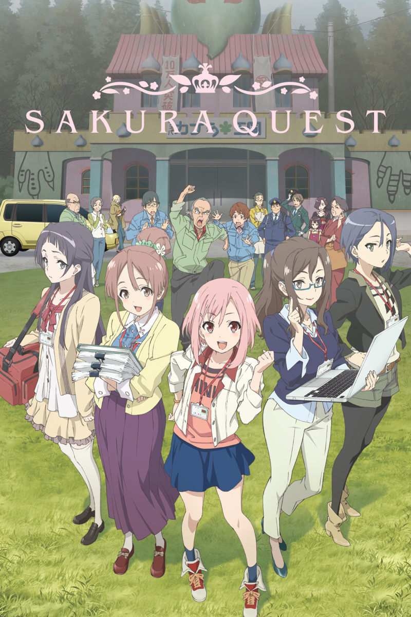 """Featured image for Sakura Quest – Episode 1 """"Off to Magical Manoyama"""""""