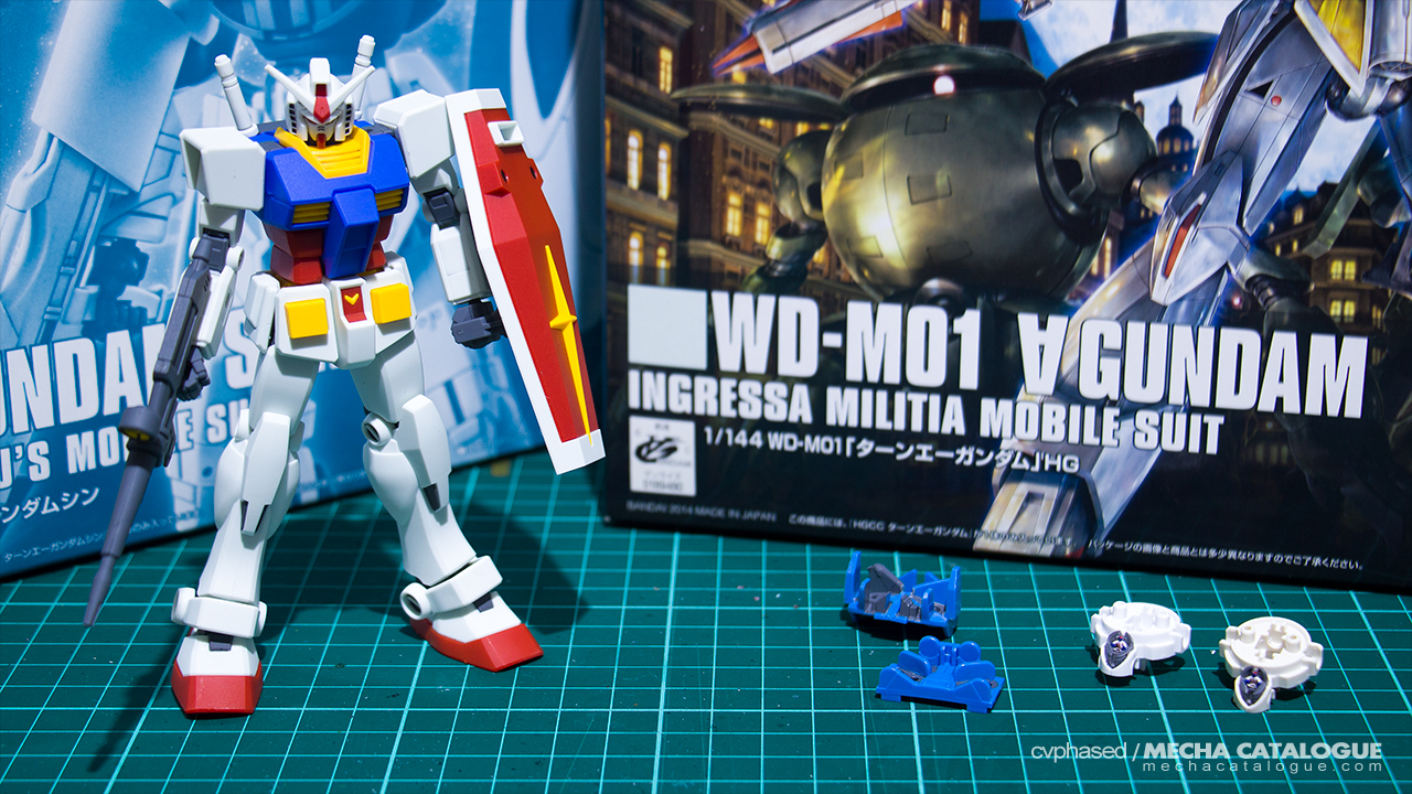 "Featured image for Dual Builds Are Back! HGCC Turn ""A"" Gundam ✕ HGBF Turn ""A"" Gundam Shin"