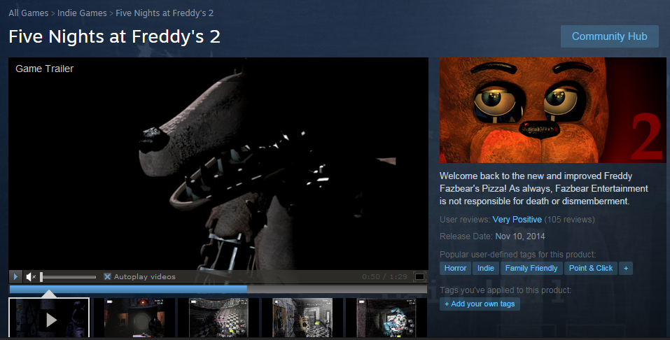 Featured image for Ten Nights at Freddy's: Paradise Lost