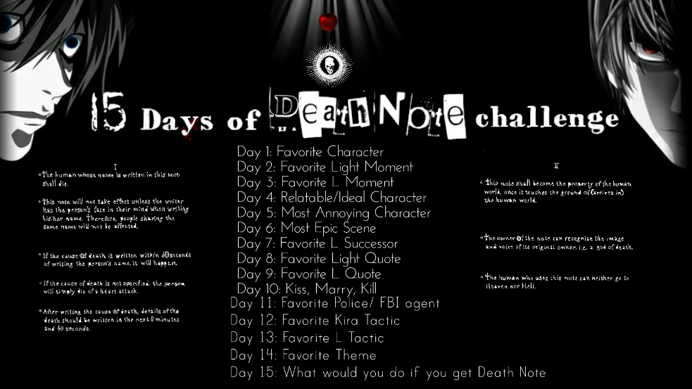 Featured image for 15 Days of Death Note Challenge: Day 5
