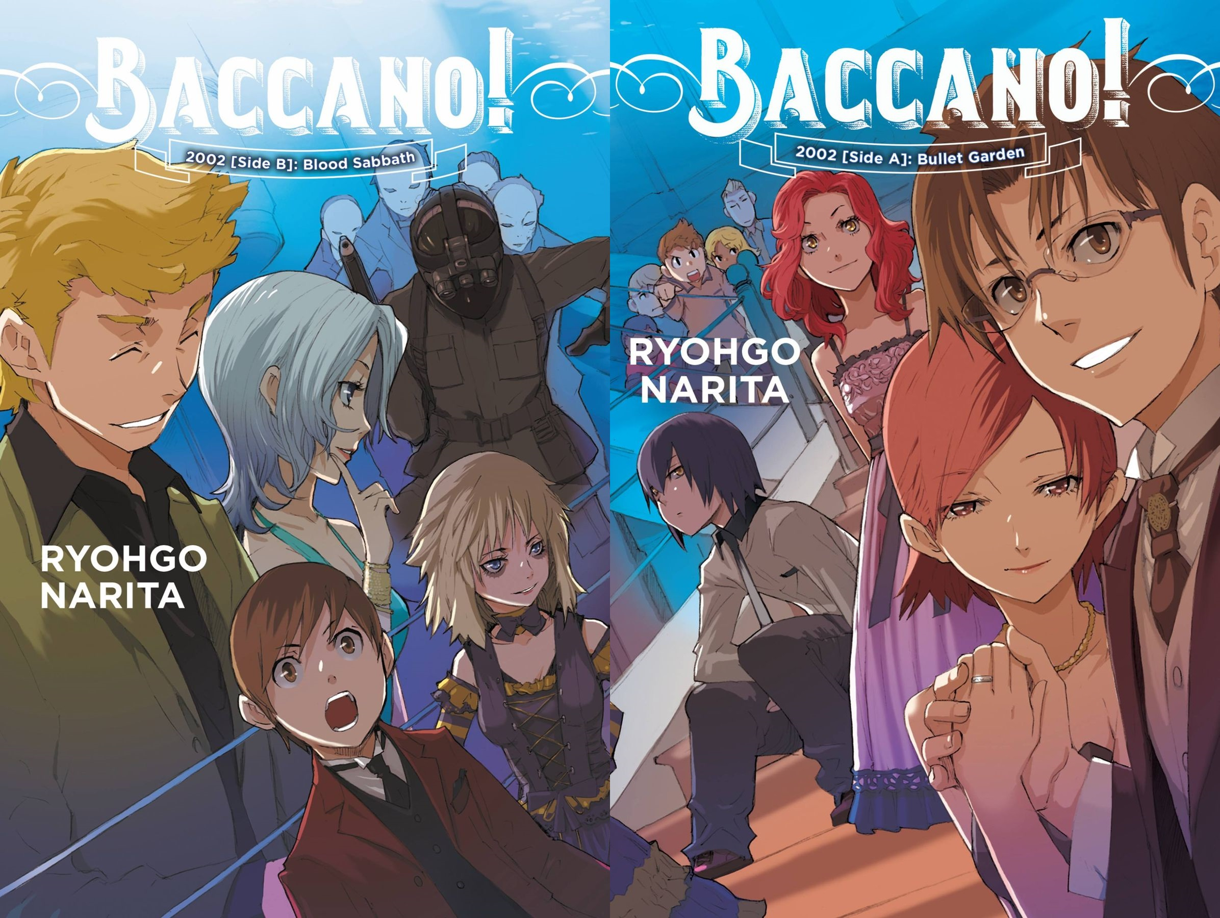 Featured image for Baccano! Volume 12: 2002 [Side A]: Bullet Garden and Baccano! Volume 13: 2002 [Side B]: Blood Sabbath Review
