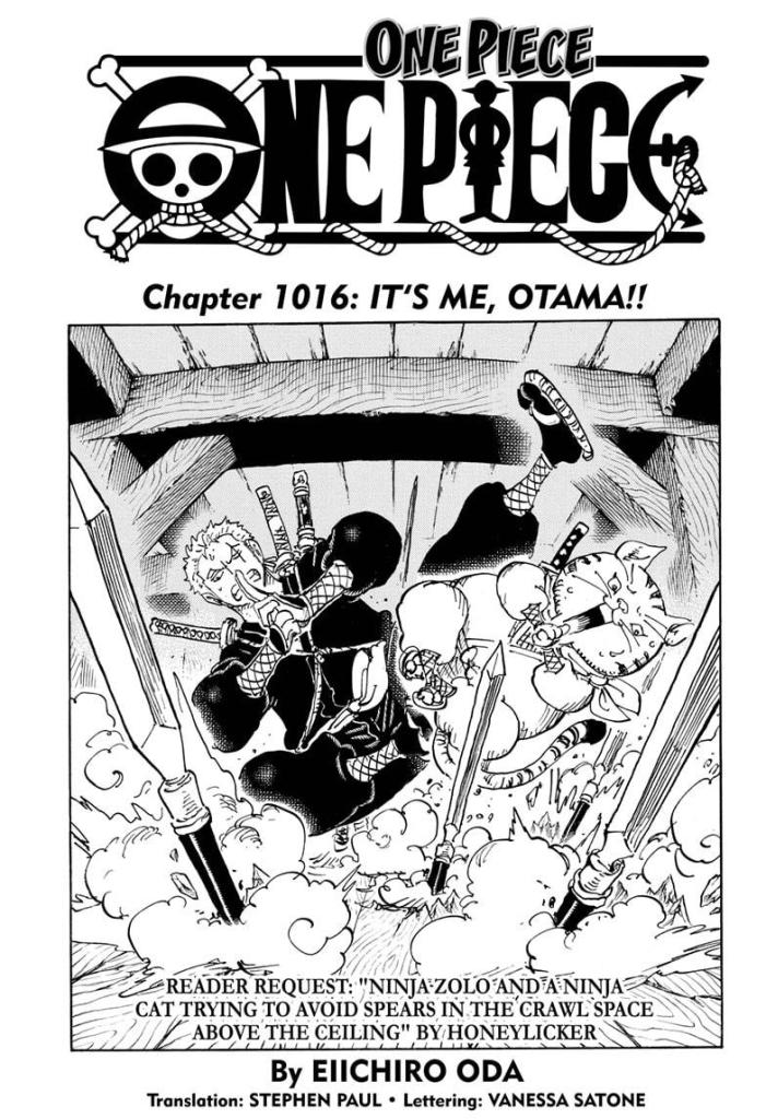 Featured image for One Piece Chapter 1016: Yami gets a powerup and Tama takes control