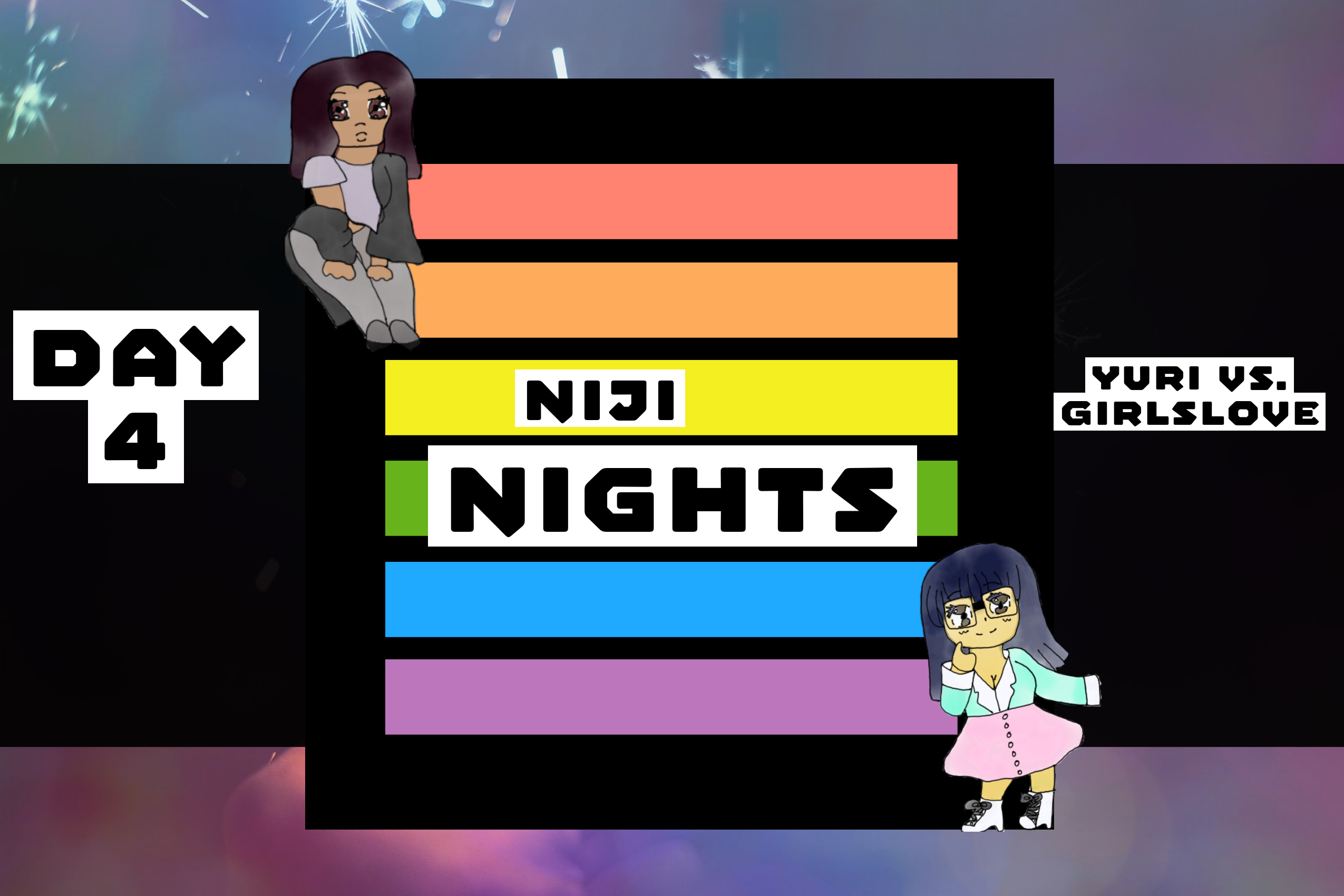 Featured image for Day 4 of Niji Nights: Yuri vs. GirlsLove- Another Definition