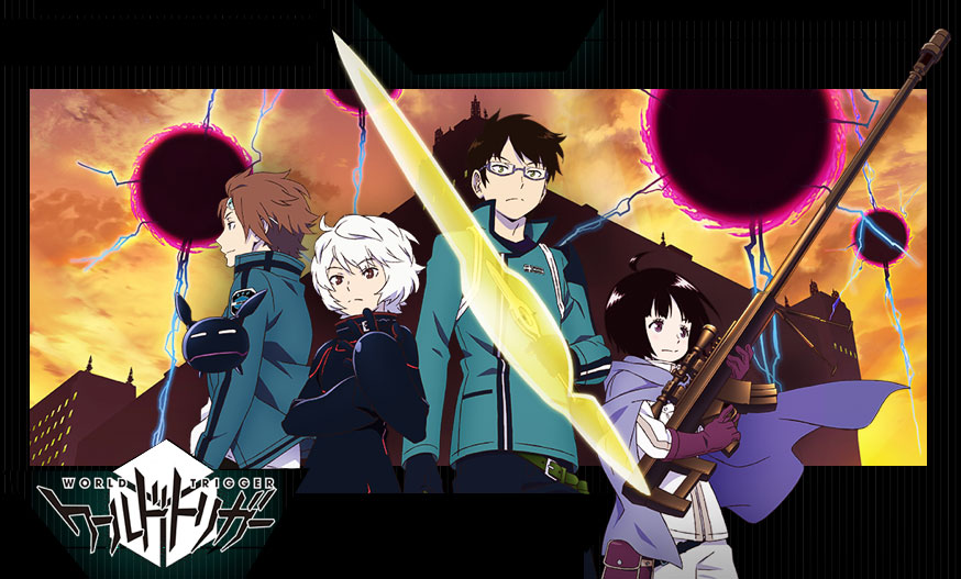 Featured image for Trigger On! World Trigger anime/manga review.