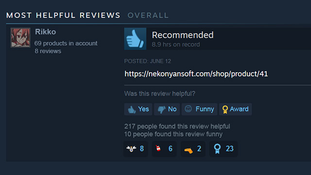 Featured image for Steam Visual Novel Review Consists of Just Link to 18+ Patch