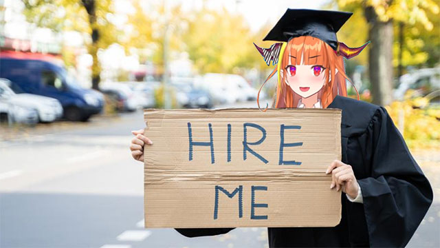 Featured image for Kiryu Coco Joins Millions of Graduates Looking for Work