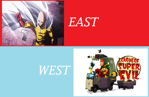 Featured image for East Meets West #7: One Punch Man .vs. League Of Super Evil