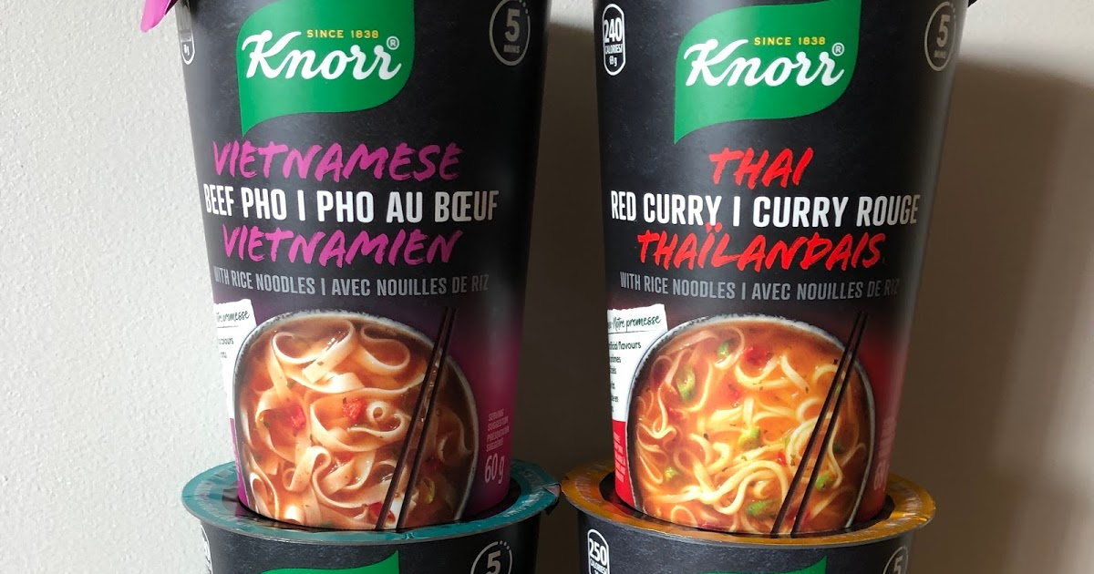 Featured image for Knorr Noodle Cups - Singapore Laksa, Thai Red Curry, Vietnamese Pho, and Japanese Miso Review