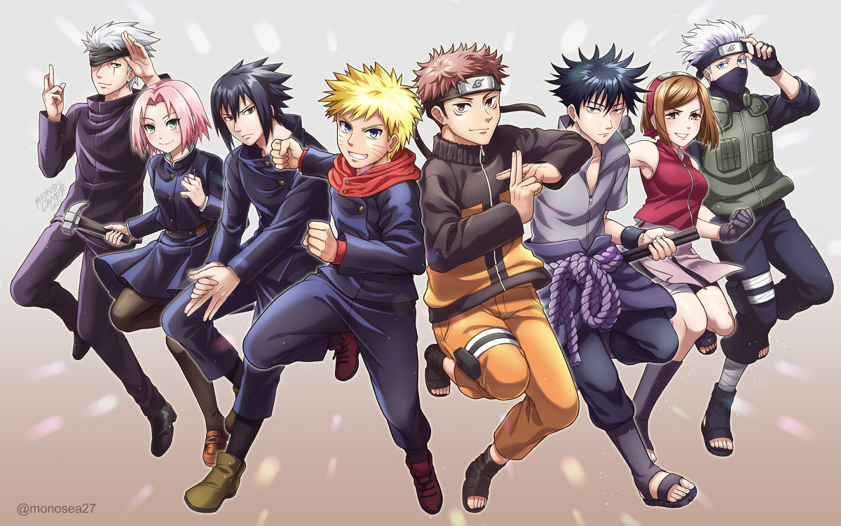 Featured image for Fanart Friday: Naruto x Jujutsu Kaisen