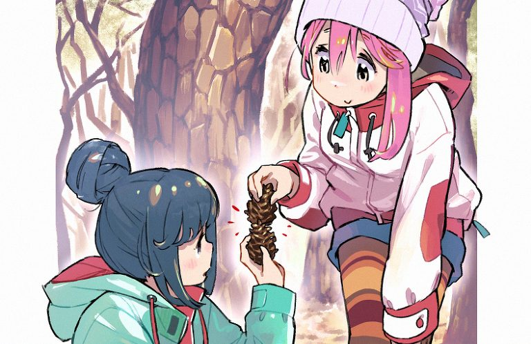 Featured image for Fanart Friday: Fall Camping with Rin and Nadeshiko