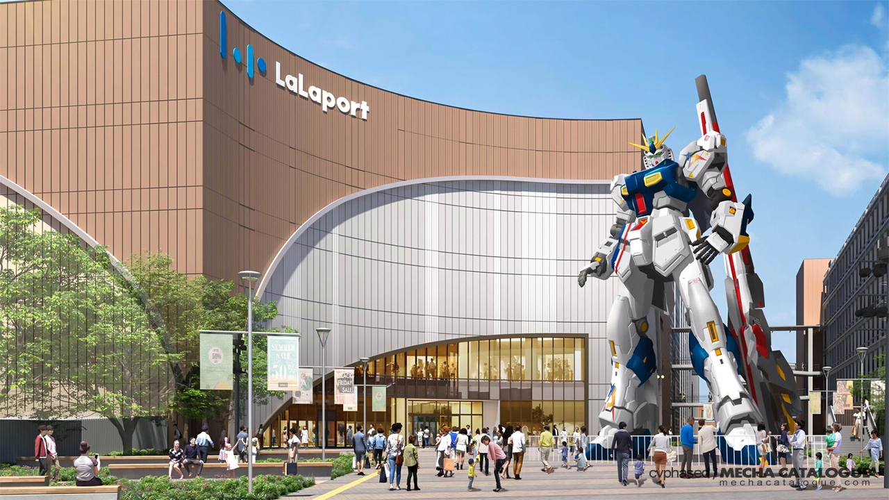 Featured image for That's Four Life-Sized Gundams: 1/1 RX-93ff Nu Gundam in Fukuoka