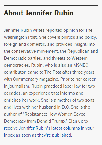 Featured image for Jennifer Rubin Is Not A Victim, She's Just Full Of Shit