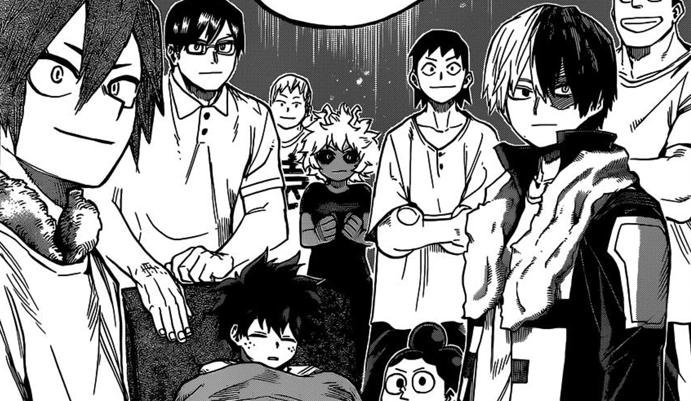 Featured image for My Hero Academia Chapter 327: Deku returns to U.A and gets much deserved rest