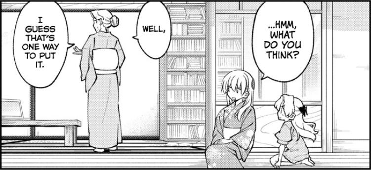 Featured image for Tonikaku Cawaii Chapter 157 (Tokiko and Chitose)